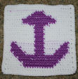 Row Count Anchor Afghan Square Crochet Pattern