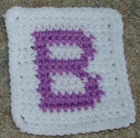 "Row Count ""B"" Coaster Free Crochet Pattern"