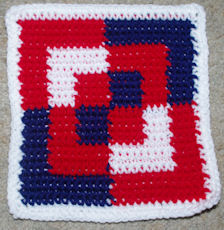 Row Count Bento Box Afghan Square Free Crochet Pattern