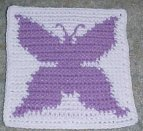 Row Count Butterfly Afghan Square Crochet Pattern