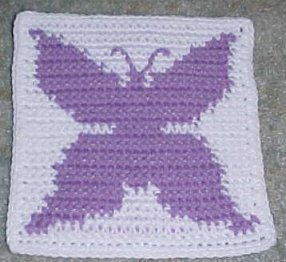 Butterfly Crochet Afghan Pattern Free : CROCHET BUTTERFLY AFGHAN PATTERNS FREE CROCHET PATTERNS