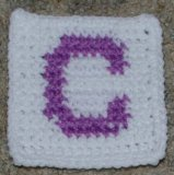 "Row Count ""C"" Coaster Crochet Pattern"