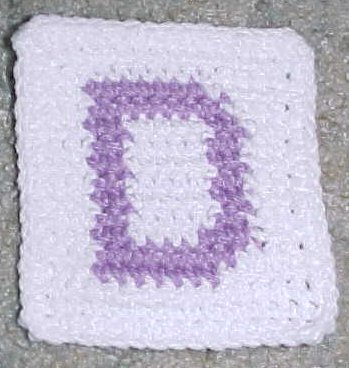 Row Count D Coaster Crochet Pattern