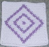 Row Count Diamonds Afghan Square Crochet Pattern