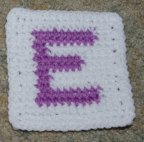 "Row Count ""E"" Coaster Crochet Pattern"