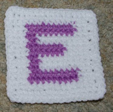 Row Count E Coaster Free Crochet Pattern