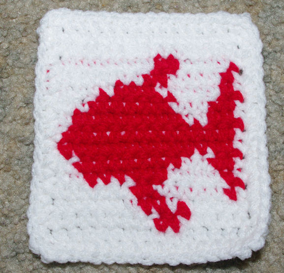 Free Crochet Fish Coaster Pattern : Row Count Fish Coaster Crochet Pattern - Free Crochet ...