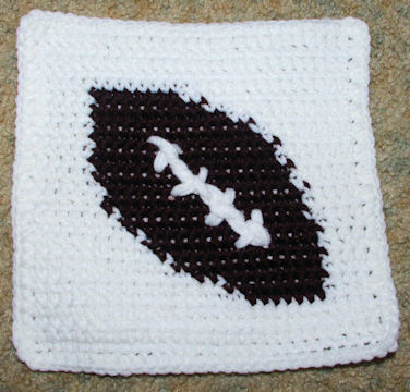 ROW COUNT FOOTBALL AFGHAN SQUARE Crochet Pattern - Free ...