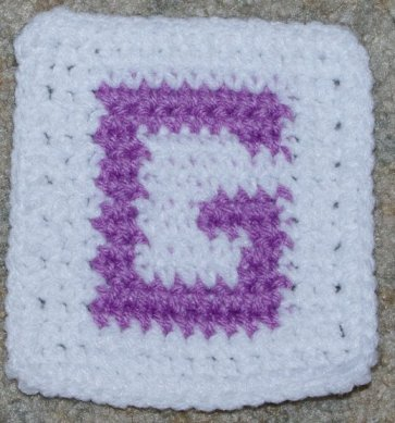 "Row Count ""G"" Coaster Crochet Pattern"