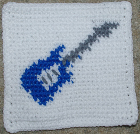 Row Count Guitar Afghan Square Crochet Pattern - Free ...
