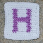 Row Count H Coaster Crochet Pattern