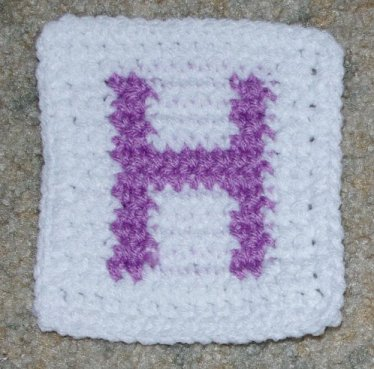 Row Count H Coaster Crichet Pattern