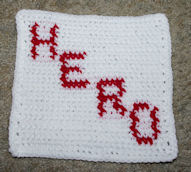 Row Count Hero Afghan Square Crochet Pattern