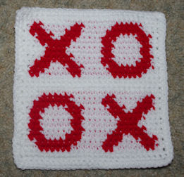 Row Count Hugs and Kisses Afghan Square Free Crochet Pattern