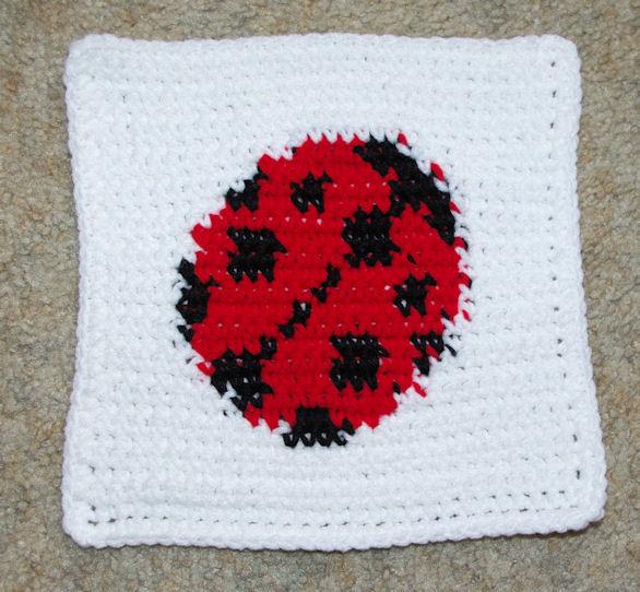 Row Count Ladybug Afghan Square Crochet Pattern Free Crochet