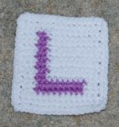 Row Count L Coaster Crochet Pattern