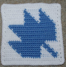 Row Count Maple Leaf Afghan Square Free Crochet Pattern