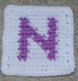 Row Count N Coaster Crochet Pattern