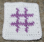 Row Count Number Sign Coaster Free Crochet Pattern