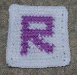 Row Count R Coaster Crochet Pattern