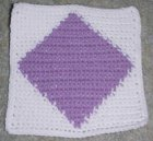 Row Count Solid Diamond Afghan Square Crochet Pattern