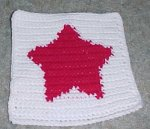 Row Count Star Afghan Square Crochet Pattern