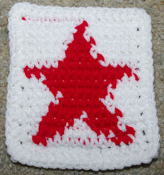 Row Count Star Coaster Free Crochet Pattern