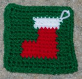 Row Count Stocking Coaster Crochet Pattern