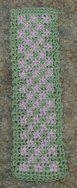 Free Crochet Pattern - Row Count Two Color Bookmark