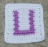 "Row Count ""U"" Coaster Crochet Pattern"