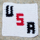 Row Count USA Afghan Square Crochet Pattern