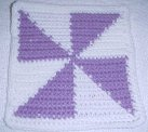 Row Count Windmill Afghan Square Crochet Pattern