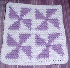 Row Count Windmills Afghan Square Crochet Pattern