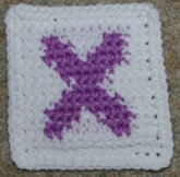 "Row Count ""X"" Coaster Crochet Pattern"