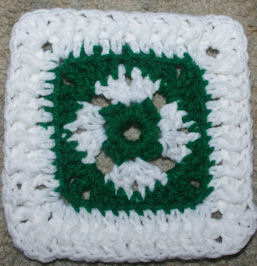 Saint Patrick's Day Afghan Square Courtesy of Crochet N More