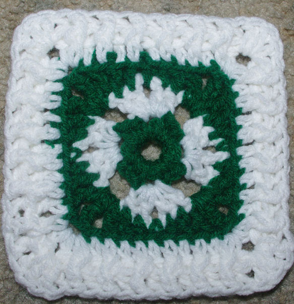 Saint Patrick's Day Afghan Square Free Crochet pattern courtesy of Crochet N More