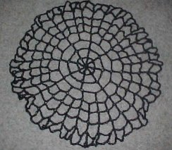 halloween spiderweb table topper crochet pattern