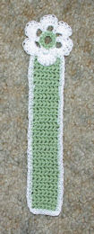 Spring Flower Bookmark Free Crochet Pattern