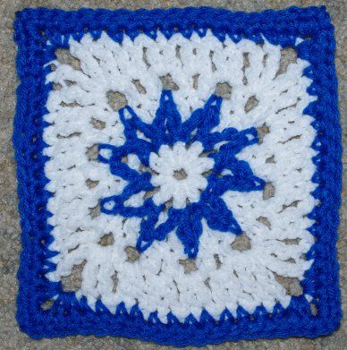 Star Burst Afghan Square