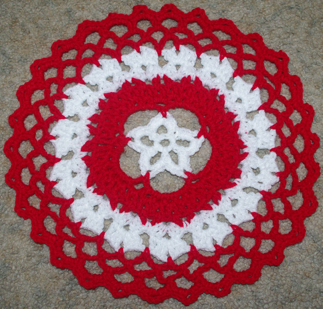 Star Centered Christmas Doily Free Crochet Pattern Courtesy of Crochet N More
