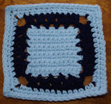 Three Squares Afghan Square Crochet Pattern