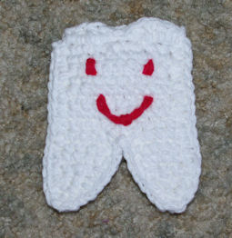 Tooth Buddy Pouch Free Crochet Pattern