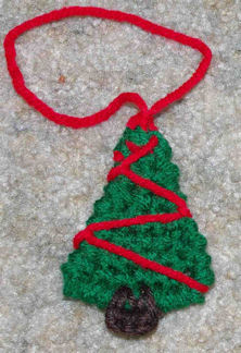 Tree Christmas Ornament Crochet Pattern