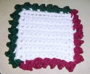 Tri Color Coaster Crochet Pattern