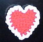 Valentine Heart Magnet - crochet Valentineheartpix
