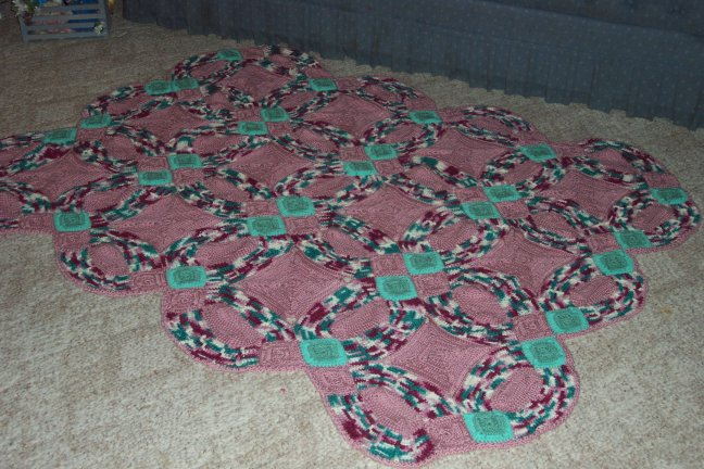 Wedding Ring Afghan - Made by Lesa