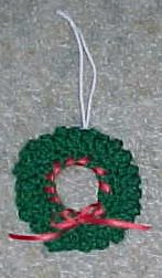 Wreath Ornament Crochet Pattern