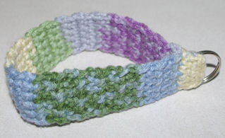 Wristlet Key Chain Free Crochet Pattern